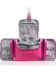 Travando ® XXL Kulturbeutel zum Aufhängen für Damen mit 8,8 Liter Volumen   Große Kosmetiktasche mit 4 Seitentaschen   Waschtasche   Beauty Case Kulturtasche XL Waschbeutel Reise Toilettentasche