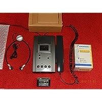 Grundig dt3210Stenorette avec bloc d'alimentation, microphone à main + Casque + et laser