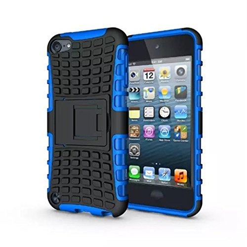 iPod Touch 5 Hülle,iPod Touch 6 Hülle, LUOLNH (TPU Series) Silikon Stoßfest Touch 6 Schutzhülle Ständer Armor Drop Resistance Schutz Hülle für Apple iPod Touch 5G 6G (Blau) (Ipod-blau)