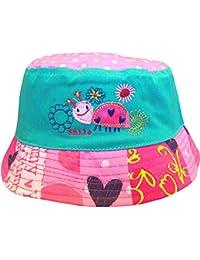 Bebé niñas pájaro y tortuga estilo cubo verano sol playa sombrero
