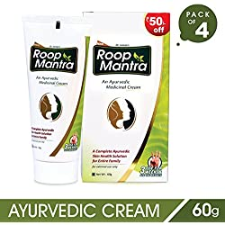 Roop Mantra Fairness Face Cream with Aloe Vera (60gm, Pack of 4) for Men & Women - Prevents Acne, Dark Spots, Pimples, Boils & Skin Infections and Helps in Natural Glow, Nourishing Skin Cream, Whitening & Brightening Cream For All Skin Types, Ayurvedic Cream