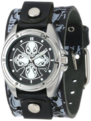 Nemesis MS909K - Reloj de pulsera hombre, Cuero, color Negro