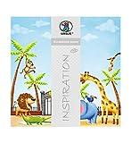 Ursus 703000185 - Premium Glitter Scrapbook paper Zoo, ca. 30,5 x 30,5 cm, 5 Blatt, Motiv 185
