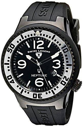 Swiss Legend Caballero 21848P-BB-01-SA Neptune Black Dial Black Silicone Reloj