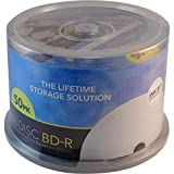 M-DISC 25GB BD-R 25Go 4x BD-R Blank Discs 25GB Blu-ray (BD-R, 120mm,–50pièce (S), Tapered, 50Piece (S))