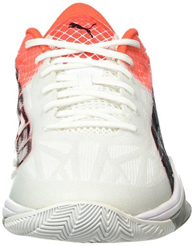 Puma Evospeed Indoor 1.5, Chaussures de Fitness Mixte Adulte Blanc - Weiß (White-Black-Red blast 02)