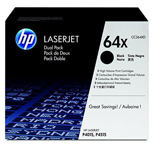 HP 64X 2er-Pack (CC364XD) Schwarz Original Toner mit hoher Reichweite für HP...