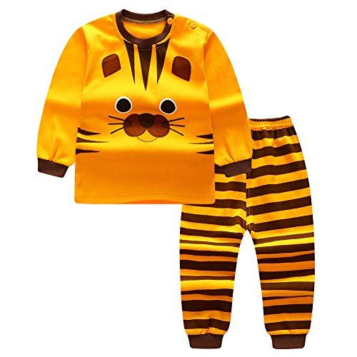 Pigiama set per bambini - mxssi ragazze ragazzi neonato camicie + pantaloni homewear indumenti da notte in cotone pajama indumenti da notte vestiti a manica lunga 90cm