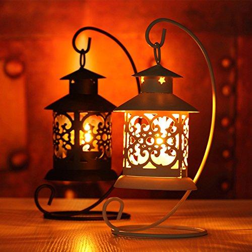 Lanterne photophore bougie chauffe-plat h21 métal laser pour mariage