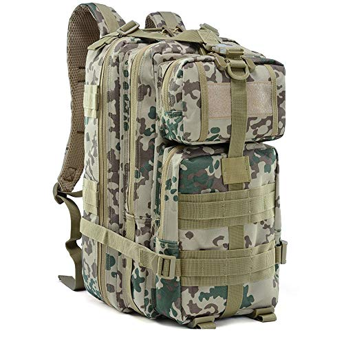 CHYZ Trading 24L Military Tactical Assault Rucksack Wandertasche Extrem Wasserabweisende Rucksack Molle Tasche for Reisen, Jagd, Camping, Trekking & Wandern (Color : Black Hawk Camouflage) -