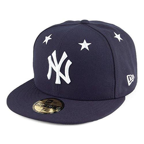 New Era Star Crown MLB Neyyan NVY - Schirmmütze Linie New York Yankees für Herren, Farbe Blau, Größe 7 3/8