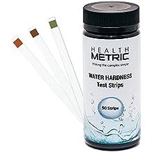 Tiras de prueba de dureza de agua – Kit de prueba rápida y fácil con 50 tiras a 0-425 ppm – Prueba de dureza total de calcio y magnesio ideal para ...