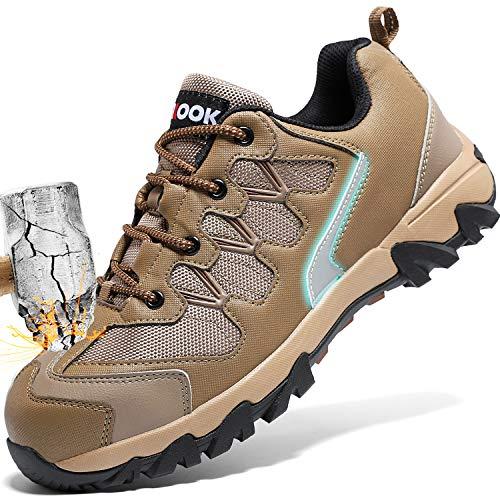 Zapatos de Seguridad para Hombre con Puntera de Acero Zapatillas de Seguridad Trabajo, Calzado de Industrial...
