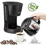 Kaffeemaschine |12 Tassen | 1,2 Liter | Warmhalteplatte | 800 Watt | Glaskanne | Tropfstopp BPA Frei (Kaffeemaschine 800Watt)
