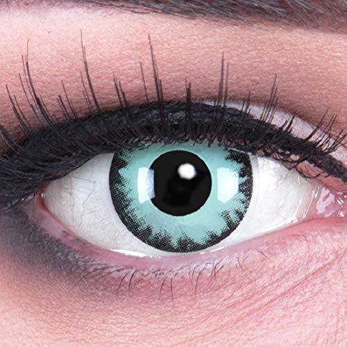 Funnylens 1 Paar farbige Crazy Fun oblivion Jahres Kontaktlinsen. perfekt zu Halloween, Karneval, Fasching oder Fasnacht mit gratis Kontaktlinsenbehälter ohne Stärke!