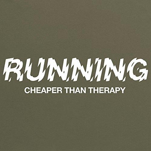Cheaper Than Therapy T-Shirt, Herren Olivgrn
