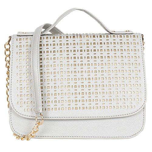 ADISA SL5004 silver party girls sling bag