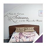 Exklusivpro Wandtattoo Wand-Spruch Nimm dir Zeit zum Träumen. inkl. Rakel (zit27 violett) 120 x 32cm mit Farb- u. Größenauswahl