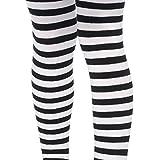 Pierna Avenue Talla única negro/blanco nailon rayas calentadores de brazo