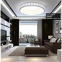 Ronda LED Luz Lámpara de techo, dormitorio, sala de estar grande lámpara, lámpara, sala comedor, balcón, pasillo, lámparas de cristal, Lámparas y farolillos, Lámparas y farolillos,42cm- tricolor