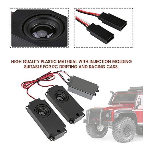 Dapei RC Auto LKW Motor Soundmodul Beschleunigergestänge Kit 10 Arten Sounds Ersatzteile Zubehör Hohe Leistung (Motor Lkw Rc)