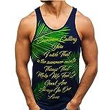 Caidi Tank Top Herren mit Print Unterhemden | Muskelshirt Ideal für Sport Gym Fitness & Bodybuilding & Outdoor | Muscle Shirt - Stringer - Tanktop - Unterhemd - Achselshirt - Sportshirt (XL, Schwarz)