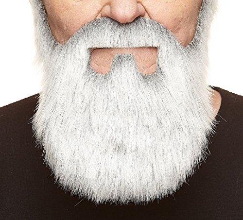 Weißer fälschen, selbstklebend Bart und Schnurrbart eines alten Kaufmanns mit grau Weiße Bärte