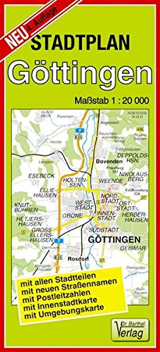 Stadtplan Göttingen: 1:20000