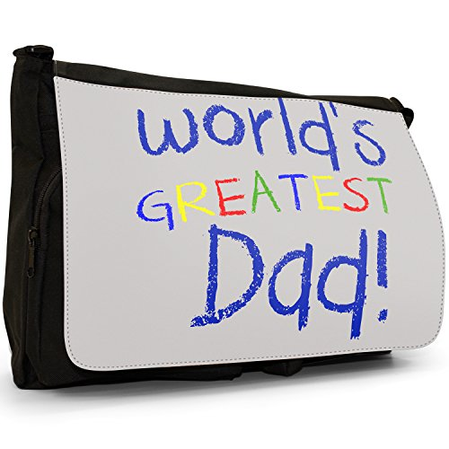 Fancy A Bag Borsa Messenger nero World's Greatest Aunty Birthday Gift World's Greatest Dad Fathers Day Birthday Gift