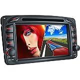 MB-01EU Autoradio für Mercedes W203 W168 C209 W209 W463 + Moniceiver / Naviceiver mit GPS Navigation + NAVI Software inkl. Europa Karten (38 Länder) + Bluetooth Freisprechfunktion + 7'' / 18cm Touchscreen Display + USB + Micro SD + AUX + 2 DIN (Doppel DIN) Standardeinbaugröße inkl. Fernbedienung