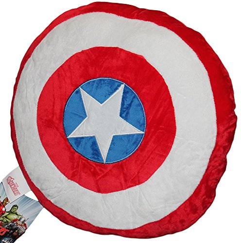 Bassetti Kissen Schild Captain America, Accessoire, Kinderzimmer, Original Avengers Marvel