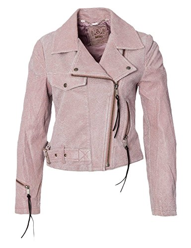 DIESEL Damen Lederjacke L-Kele rosa 38/M (Frauen Diesel Jacken)