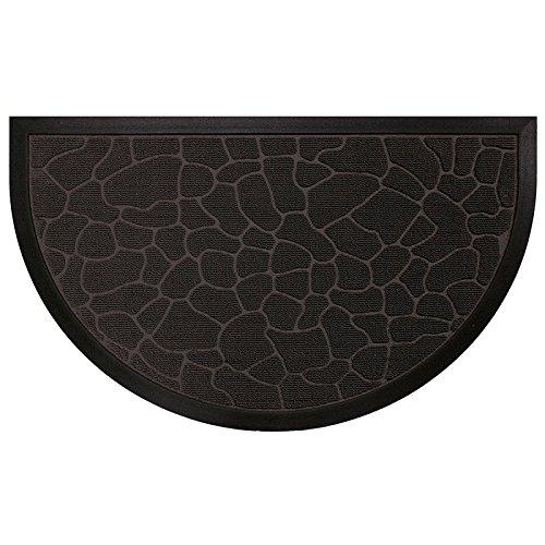 Deco Tapis   - 1740257, Tapete Entrada Media  Luna , 45 X 75 Cm , Demi,Lune Galets , Alfombra De Entrada , Negro
