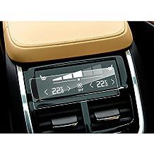 LFOTPP Volvo XC90 S90 V90 aire acondicionado Protector de pantalla - 9H Cristal Vidrio Templado GPS Navi película protegida Glass