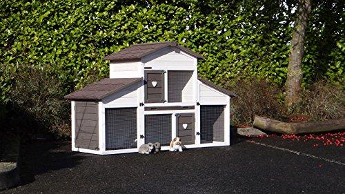 Animalhouseshop.de Kaninchenstall Annemieke mit Auslauf 175x70x110cm - 2