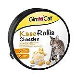 GimCat Käse-Rollis – Vitaminreicher Katzensnack mit echtem Hartkäse