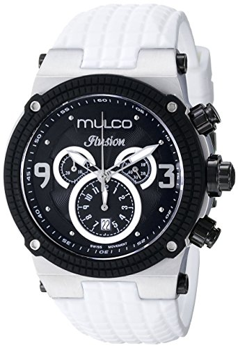 MULCO Unisex MW3-12140-015 Ilusion Analog Display Swiss Quartz White Watch