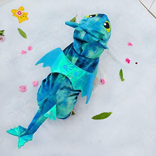 BAONUAN Haustier Kleidung Weihnachten Hund Kostüm Drachen Stil Haustier Katze Kostüm Hundemantel Katze Jacke Hund Katze Kleidung Halloween Kostüm Welpen Kleidung, L (Hunde Drache Kostüm Muster)