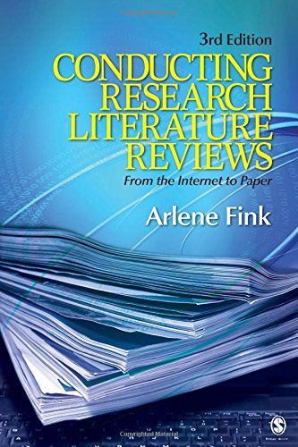 conducting research literature reviews internet paper third edition In conducting research literature reviews, author arlene fink providing readers with an accessible, in-depth look at how to synthesize research literature she shows readers how to explain the need for and significance of research, as well as how to explain a study's findings.
