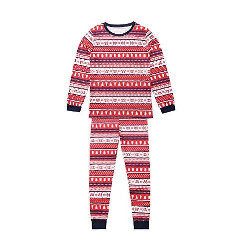 Amphia - Mutter und Mädchen langärmelige Weihnachten Schneemann Elternteil-Kind Hause Pyjama gesetzt,Frauen Mommy Snowflake Tops Blouse Pants Family Pajamas Matching Christmas Set