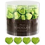 150 grüne Schokoladen Herzen Frankfurt