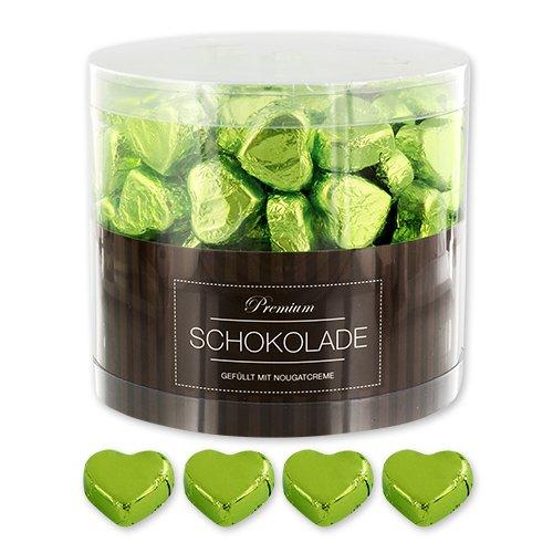 Preisvergleich Produktbild 150 grüne Schokoladen Herzen Frankfurt