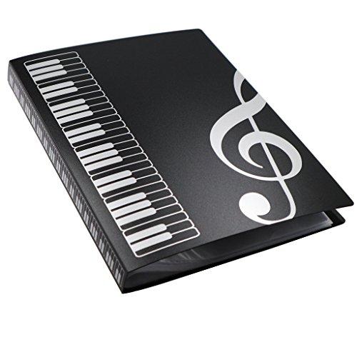MOREYES raccoglitore porta spartiti musicali con chiave di violino disegnata per fogli formato A4 con 40 tasche clef