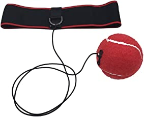 Enjocho Speed Boxing Ball Reflex Fight Ball with Elastic Headband Training Reaction Ball On String Punching Focus Punch Head Band Trainer Perfect Reflex Ball & Style 2