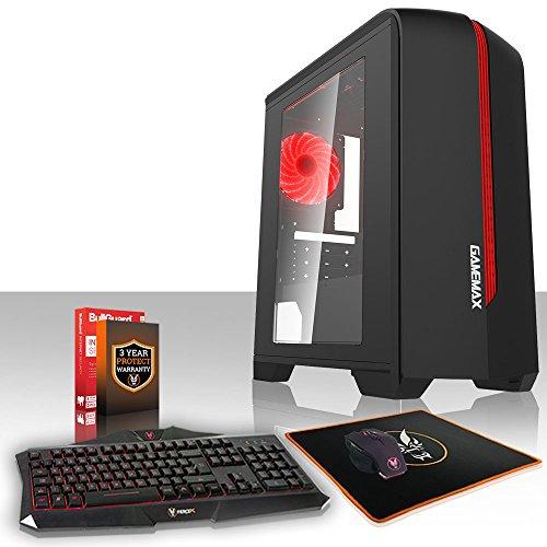Fierce Berserker High-End Gaming PC Bundeln - Schnell 3.9GHz Hex-Core AMD Ryzen 5 2600, 1TB Festplatte, 8GB 2666MHz, NVIDIA GeForce RTX 2070 8GB, Tastatur Maus (VK/QWERTY) 999015