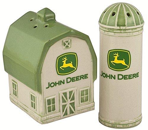 Deere Barn/Silo 2000 Logo Salt and Pepper Shaker Set Logo Shaker Set
