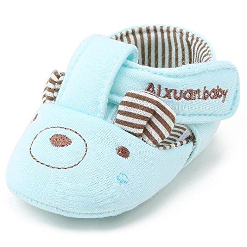 IGEMY New Fashion Baby Girl Boy Soft Semelle antidérapante pour enfants en coton Bleu