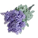 Liroyal A bouquet 10 Head Artificial Lavender Silk Flowers Violet Bouquet Home Garden Decoration