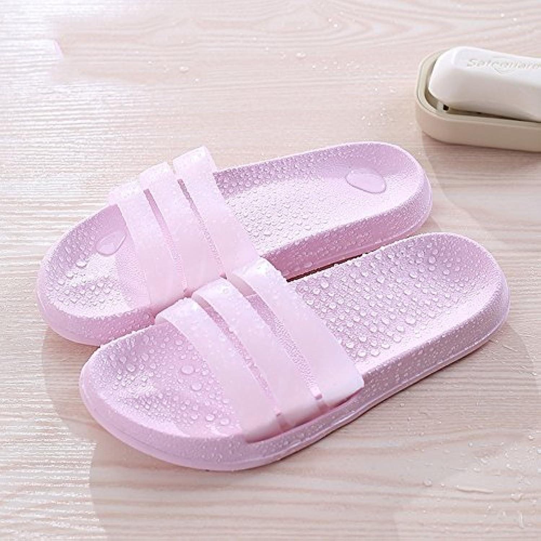 Gemütlich Bad mit Hausschuhen Anti-Rutsch-weichen Boden Haus Bad Schuhe Paar coole Pantoffeln Männer und Frauenö