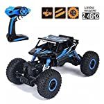 higadget Dirt Drift Waterproof Remote Controlled Rock Crawler RC Monster Truck, 4 Wheel Drive, 1:18 Scale 2.4 Ghz